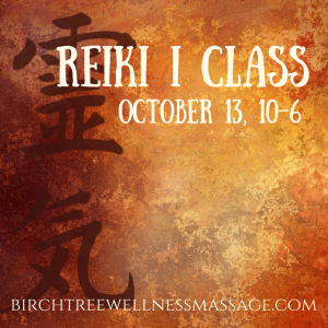 Reiki I Class October 2018